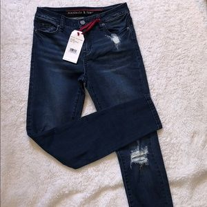 NWT Standards & Practices skinny ripped jeans